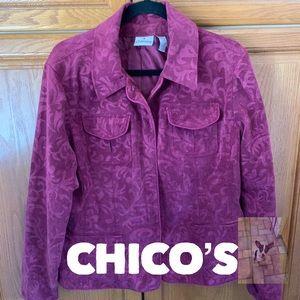 Burgundy jacket size L